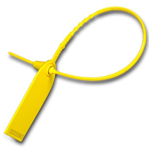 X-Strap  Fixlängenplombe gelb geschlossen