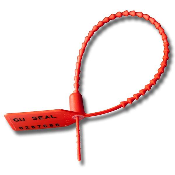 Pull Tight verstärkte Durchzieh-Plombe rot geschlossen